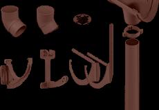 Водосточная система Стандарт (коричневая)